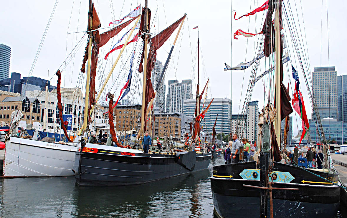 Asembling in the dock at West India Dock — Picture by Renee Waite
