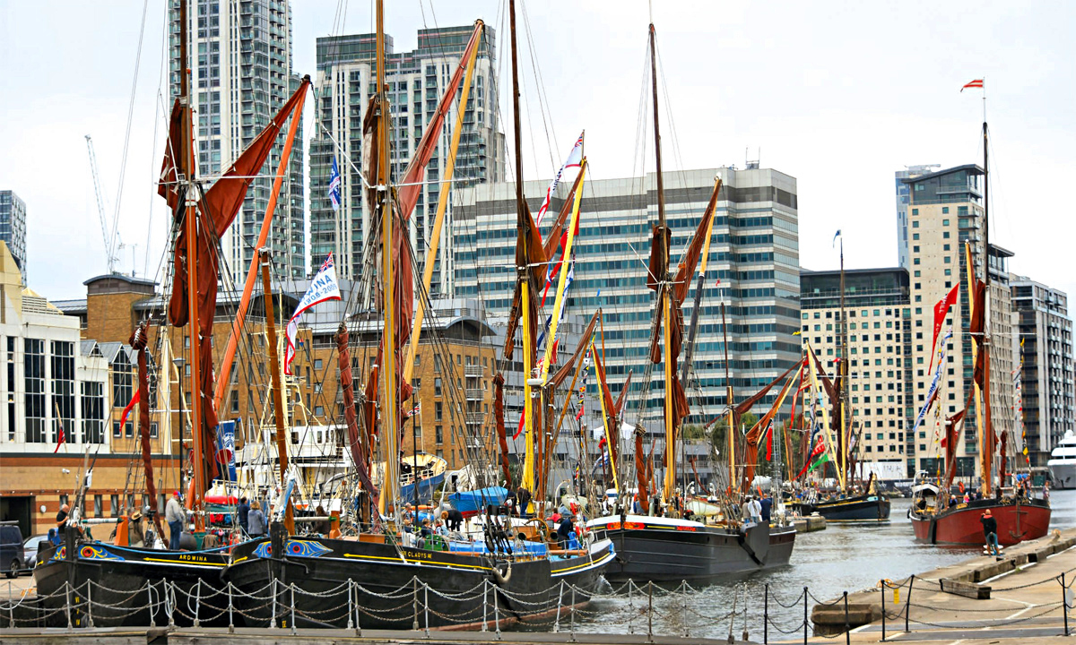 Preparing to leave West India Dock to go on parade — Picture author unknown